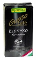 Kohv Gusto Espresso jahvatatud 250g Rapunzel
