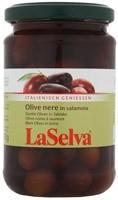Mustad oliivid soolvees 310g LaSelva