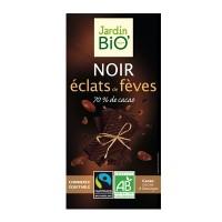 JardinBio tume šokolaad röstitud kakaoubadega 100g