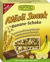 Rapunzel Müslisnäkk banaani-šokolaadi 4x26g