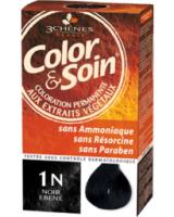 Color Soin püsiv juuksevärv taimeekstraktidega must